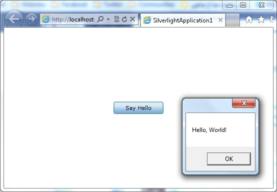Figure 23 - Running Silverlight Application